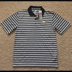 NEW Minnesota Vikings golf polo shirt men M
